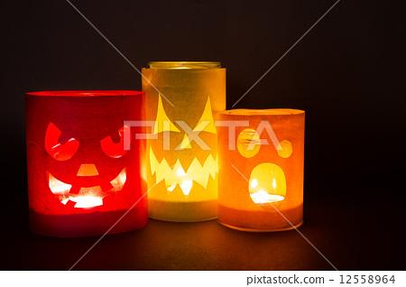 Funny jack-o-lanterns 12558964