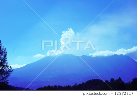 Mt. Ontake after the volcanic eruptionin in Nagano prefecture after eruption in Nagano Prf. 12572217