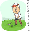 Senior Golfer 12572728