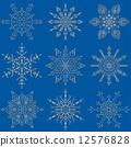 눈송이, 설편, 송이 12576828