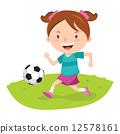 Little girl playing soccer 12578161