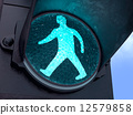 Pedestrian Green Light 12579858