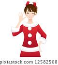 聖誕女人聖誕老人 12582508