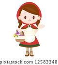 小紅騎士服裝的一名婦女 12583348