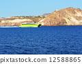圣托里尼岛 渡口 渡船 12588865