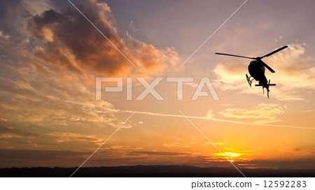 Helicopter Flyover 12592283