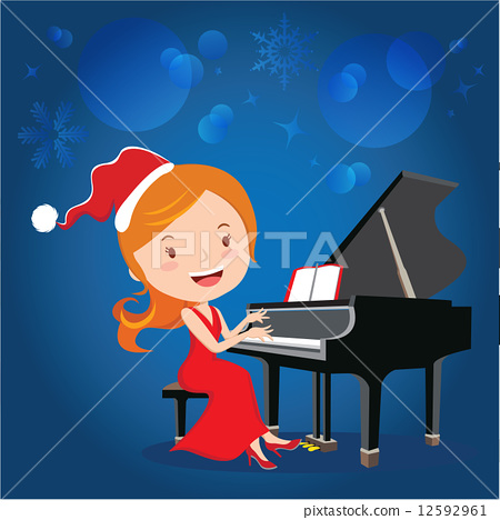 Christmas piano performance 12592961