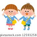 學前班兒童 幼兒園兒童 牽手 12593258