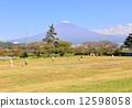 富士山 雪山 雪景 12598058