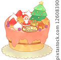 圣诞蛋糕 鲜奶油 相似的情况 12608390