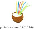 coconut, cocktail, multicolored 12613144