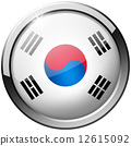 South Korea Round Metal Glass Button 12615092
