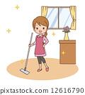 여성 청소 12616790