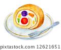 蛋糕 水彩畫 夾心蛋糕 12621651