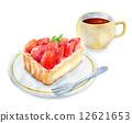 딸기 타르트 세트 12621653