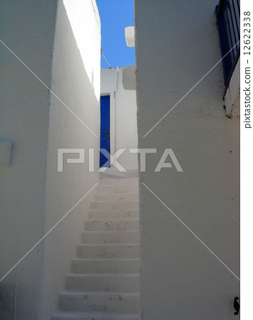 Traditional white house of Alonissos, Greece 12622338