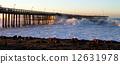 Ocean Wave Storm Pier 12631978