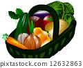 Basket with vegetables 12632863