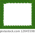 Green square frame from leaves 12645598