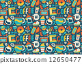 seamless coffee pattern 12650477