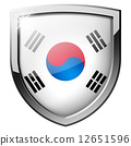 South Korea shield 12651596