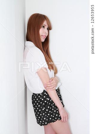 하프 미녀 (헤어 카탈로그 바람) 12653955