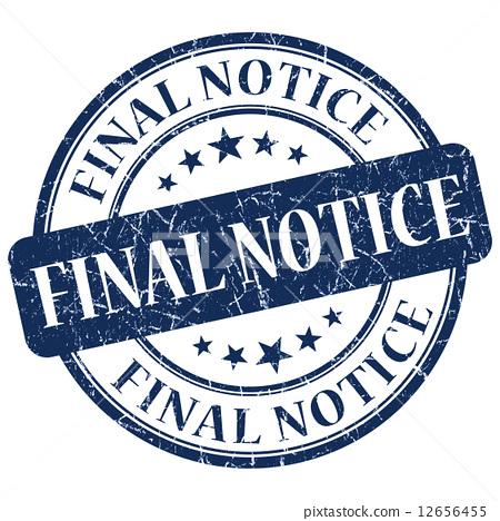 Final Notice Blue Stamp 12656455
