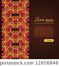 Invitation template vintage flowers lace ornament 12656846