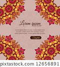 Invitation template vintage flowers lace ornament 12656891