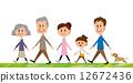 三代走路的家庭 12672436