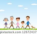 三代走路的家庭 12672437