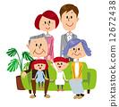 세 가족 소파 12672438