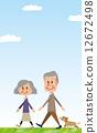 高級夫妻散步 12672498