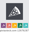 Pizza flat icon 12676287