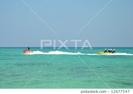 Jet ski and banana boat 12677547