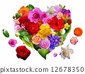 Heart of flowers and leaves 12678350