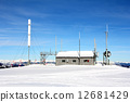 Weather station in snow 12681429