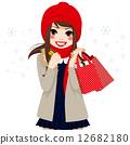 winter, vector, bags 12682180