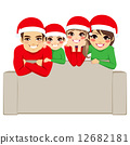 family, christmas, vector 12682181
