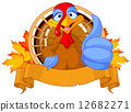 Cute turkey 12682271