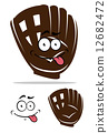 Cute cartoon baseball glove 12682472