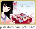 禦節料理 傳統日本新年菜餚 甜食 12687421