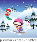 Holiday skiing 12688929