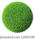 Green grass sphere isolated 12697280
