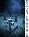 墓地 坟墓 雾 12698900