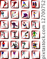 Sport silhouette icons. Vector illustration 12700752