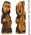 Musicians Playing Contrabass and Violin 12702236