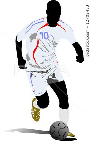 Soccer players. Vector illustration 12702453