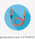 Pet dog lead flat icon with long shadow,eps10 12720832