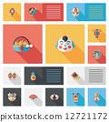 Chinese New Year flat ui background, eps10 12721172